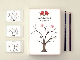 unique wedding guest book alternatives personalize fingerprint wedding tree wedding guest book tree