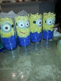 minions centerpieces despicable me minion favor bags by tbcraft06 on etsy 12 00