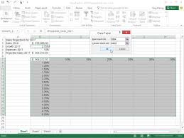 how to create a table in excel 2016 how to create a two variable data table in excel 2016 dummies