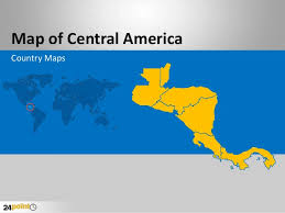map of central america editable powerpoint presentation