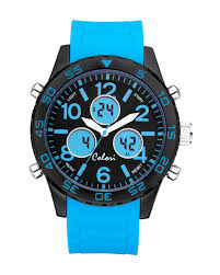colori blue analog digital watch from the exclusive home decor and