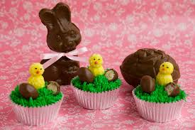Easter Chicks Cake Decorations by Easter Cupcake Ideas