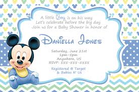 baby mickey baby shower baby mickey mouse shower invitations by created your invitation