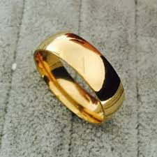 popular cheap gold rings for men buy cheap cheap gold never fading classic 6mm wide ring for men women 18kgf gold filled