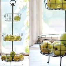tiered fruit basket distressed metal 3 tier basket stand a cottage in the city