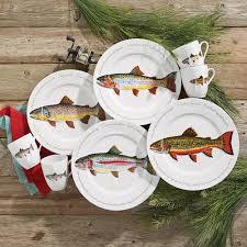 rustic wildlife dinnerware sets with moose designs