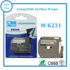 how to install brother p touch tape 5 pcs lot brother m k231 mk231 compatible p touch 12mm black on