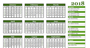 free 2018 yearly calendar u2013 pdf word excel templates calendar office