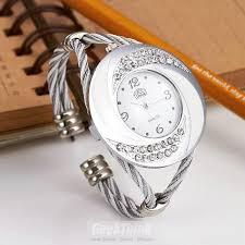 bangle bracelet watches images Rhinestone whirlwind design metal weave clock female dress women jpg