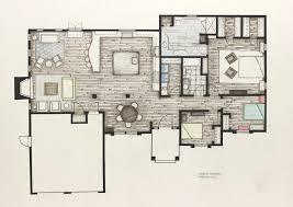 interior architecture design project floorplan rendering home