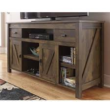 Rustic Tv Console Table Rustic Tv Console Intended For Aspen Log Slate