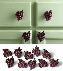 10 grape cabinet drawer pulls grapevine wine vineyard kitchen