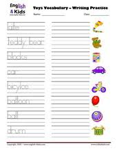 esl kids worksheets toys vocabulary worksheets