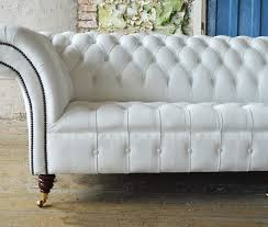 Chesterfield White Leather Sofa Magnificent White Leather Chesterfield Sofa Chesterfield White