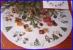 tree skirt kits bucilla to the world felt holy