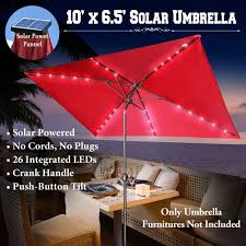 Patio Umbrellas Ebay by Rectangle Patio Umbrella With Solar Lights Patio Outdoor Decoration
