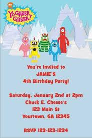 yo gabba gabba invitation personalized party invites