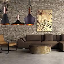 Wohnzimmer Ideen Retro Mstar Retro Industrielle Pendelleuchte Aus Metall Schwarz Gold
