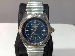 breitling steel bracelet images Breitling ref b10047 antares s steel 18k y g 39mm w bullet jpg
