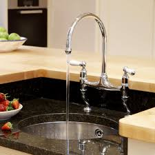 rohl kitchen faucet parts rohl perrin and rowe 2 handle bridge kitchen faucet in polished