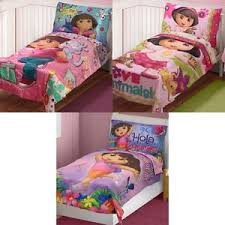 Toddler Comforter New Dora The Explorer Toddler Bedding Set Spanish Words