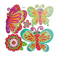 bedroom cute removable 3d butterflies wall craft decorations for