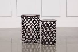 gray wood side table 2 piece rustic metal and wood side tables living spaces