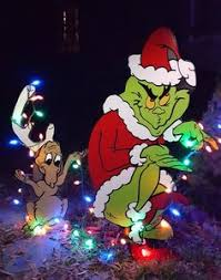 Homemade Animated Christmas Yard Decorations by Directions How To Make The Grinch Cut Out Like Pinterest
