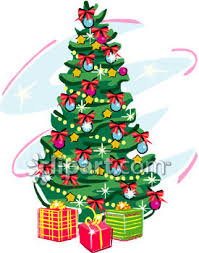 tree with lots of presents clipart