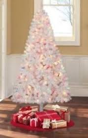 white christmas tree with multicolor lights madison pine 6 5 ft 6 1 2 prelit white christmas tree 400 multi