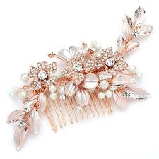 bridal hair combs designer gold bridal hair comb with painted leaves and