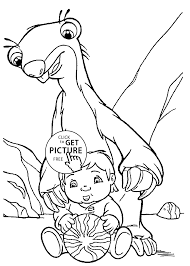 dinosaur ice age coloring pages kids printable free