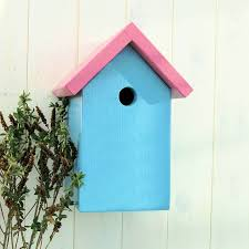 Verditer Blue Personalised Simply Colour Bird Box By Lindleywood