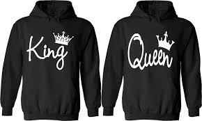 king matching hoodies his