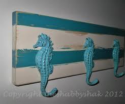coat rack nautical decor seahorse hook wall hook beach