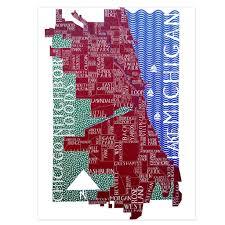 chicago neighborhoods map cards box set of 10 chicago