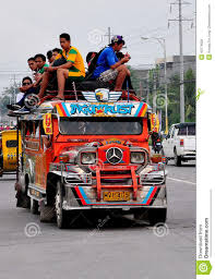 jeep philippines inside philippines mindanao jeepney with passengers on top editorial