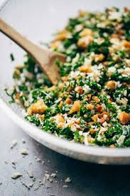 toasted bread and parmesan kale salad recipe pinch of yum