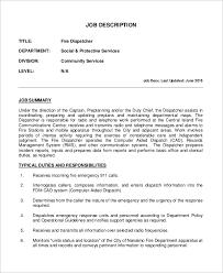 Machine Operator Job Description For Resume by 100 911 Dispatcher Resume Resume Job Resume Cv Cover Letter