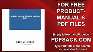 nissan altima service manual 2009 video dailymotion