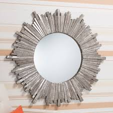 Bedroom Wall Mirrors Uk Gallery Direct Alassia Round Mirror In Silver U2013 Next Day Delivery