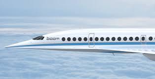 boom supersonic passenger airplanes