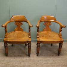 large characterful golden oak victorian arts and crafts antique
