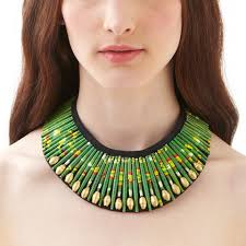 beaded collar necklace jewelry images Green beaded collar necklace keapsake jpg