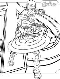 coloriage gratuit a imprimer captain america