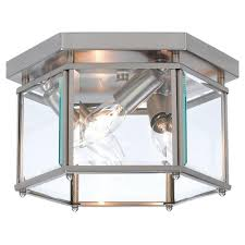 sea gull lighting bretton 3 light brushed nickel flushmount 7648