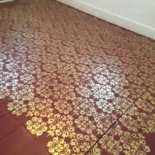red and gold stenciled floor for less than 100 behr porch