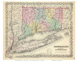 Colonial Map Old Maps Of Connecticut Reprints