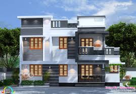 kerala home design 1600 sq feet 4 bedroom flat roof box model home plan kerala home design