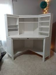Ikea Desk Hemnes Ikea Hemnes White Corner Desk Workstation Ebay
